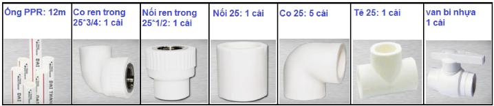 Khuyến mãi phụ kiện PPR trị giá 1.000.000đ khi mua máy nước nóng Toàn Mỹ